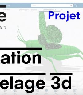 TUTO modeleur 3d - Strate Ecole de design - Catia Imagine & Shape - Sauterelle - Clara Chataignon
