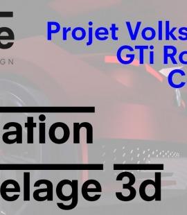 Formation modeleur 3d - Strate, école de design - 2018 - Animation Volkswagen GTi Roadster Concept