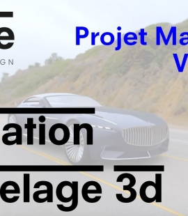 Formation modeleur 3d - Strate, école de design - 2018 - Animation Maybach Vision 6