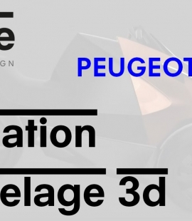 Formation modeleur 3d - Strate, école de design - 2018 - Animation Peugeot Onyx