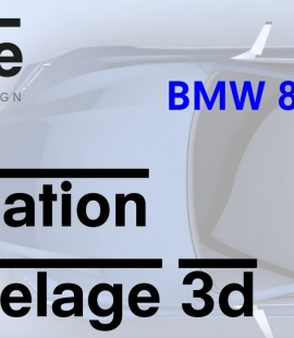 Formation modeleur 3d - Strate, école de design - 2018 - Animation BMW 8 serie