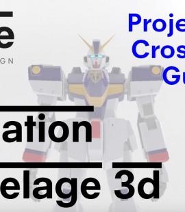 Formation modeleur 3d - Strate, Ecole de design - 2018 - XM1 Crossbone Gundam - Quentin Mallet