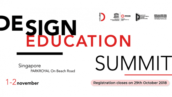 Design education summit Singapore - November 1-2 2018