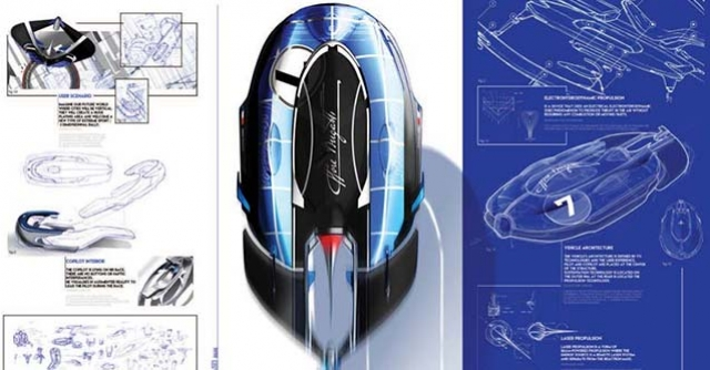 Transportation design project Bugatti Icare